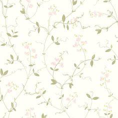 Tapete mit Blüten SANNA weiss-rosé von Sandberg