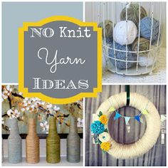 Greatest No Knit Yarn Ideas  I  Couches and Cupcakes