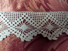 Antique crocheted lace trim for pillowcases