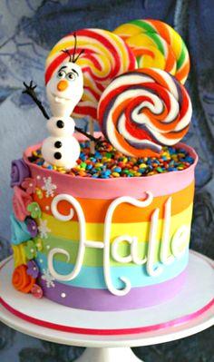 Rainbow meets Frozen Cake