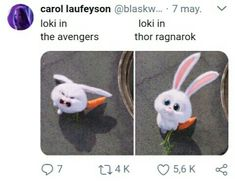 This is sooo true! To be honest, I was never a huge fan of Loki until Thor Ragnarok! He and Thor's relationship was just sooo cute! I need another Thor movie directed by Taika Waititi!! And Loki needs to come back! And Thor needs to kick butt with his new axe! Also, we need  Valkyrie and Korg back because they are so good! Korg is so precious!!