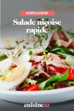 Une recette traditionnelle de la gastronomie française: la salade niçoise. Cette recette est en version rapide! #recette#cuisine#salade#saladenicoise #france Potato Salad, Potatoes, Chicken, Ethnic Recipes, France, Food, Nicoise Salad, Chopped Salads, Artichoke
