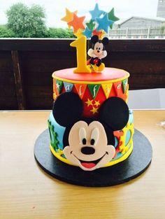 Birthday cake boys mickey mouse party ideas best Ideas in 2019 Theme Mickey, Mickey And Minnie Cake, Bolo Mickey, Fiesta Mickey Mouse, Mickey Cakes, Mickey Mouse Parties, Mickey Party, Minnie Mouse, Pastel Mickey
