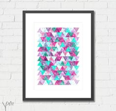 Art Print Sparkling Geometric Archival Print 8x10 or A4