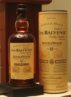 Balvenie 12 Year Old Double Wood Single Malt Scotch. Drinks like it costs: Expensive Whiskey Or Whisky, Whiskey Girl, Whiskey Decanter, Single Malt Whisky, Scotch Whiskey, Whisky Tango, Whiskey Brands, Whiskey Glasses, Bourbon Drinks