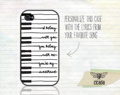 iPhone Case - The Lumineers Quote iPhone 5 Case, iPhone 4s Case, Cases for iPhone 4, Samsung Galaxy (0238) on Etsy, $15.99