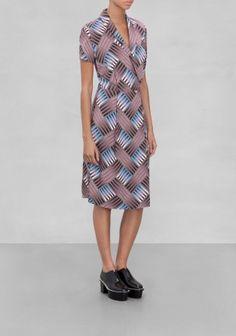& Other Stories | Diamond Stripes Wrap Dress