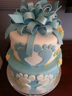 Foot Print baby shower cake