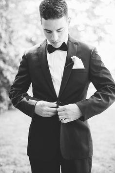 Groom's classy suit