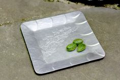 Square Aluminum Serving Tray Everlast Metal. by NorthMajestyTrail