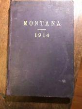 RARE antique book MONTANA 1914 purple cover history Kennedy helena resources