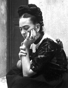 Frida Kahlo, 1940's. Photo: Lola Álvarez Bravo.