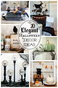 20 Elegant DIY Halloween Décor Ideas to help you add a little pretty to your Halloween season.