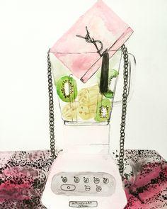 Vanessa Datorre YSL Fashion illustration. Watercolor