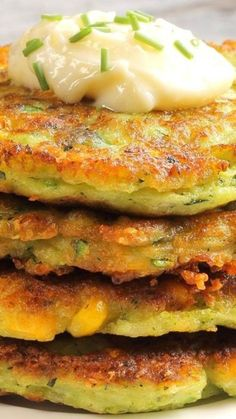 Traditional Zucchini Corn Fritters | KitchMe, ,