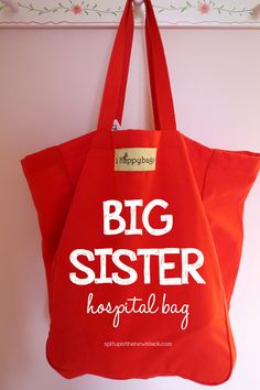 Expecting a new little one soon? When my daughter became a big sister, we gave her something special for the hospital stay. Here are some big sister hospital bag ideas (plus BONUS easy foam flower craft) 2nd Baby, My Baby Girl, Big Sister Bag, Big Sisters, Gifts For Big Sister, Big Sibling Gifts, Sisters Presents, Brother Sister, Baby Number 2