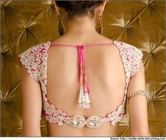 10 Latest Saree Blouse Designs | Neck Designs and Blouse Back Designs
