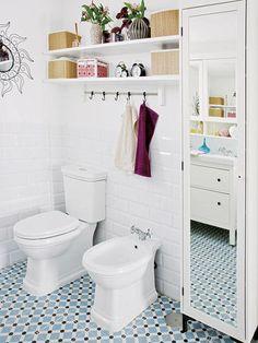 Baño de estilo vintage