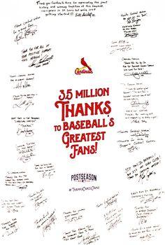 Thank You, Cardinals Nation! | cardinals.com: Fan Forum