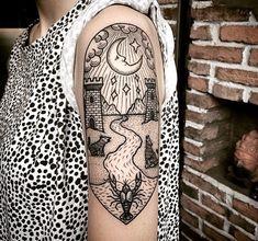 tarot moon style tattoo by anspham @saigonink in Saigon