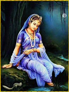 """✨ HAPPY RADHASTAMI ✨ """"Radha is the daughter of Maharaja Vrishabhanu. She is very peaceful and lovely. She is completely contented and fulfilled, very pleasing and is the daughter of Kalavati. She is the purifier of the holy places and She is most. Indian Women Painting, Indian Art Paintings, Krishna Painting, Krishna Art, Lord Krishna, Rajasthani Painting, Radha Krishna Pictures, India Art, Art Pictures"""
