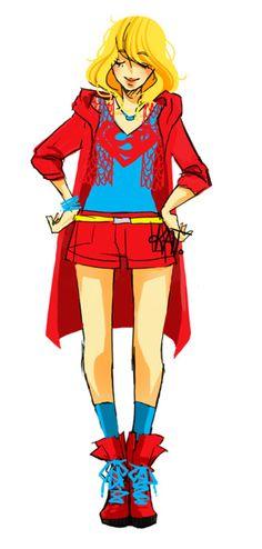 Pre-Crisis Supergirl: Cute & comfortable!