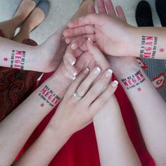 15 Bachelorette Party Temporary Tattoos buy by KristenMcGillivray, $29.00  #temptattoo #bride #bridal #tattoo #bacheloretteparty