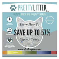 Pretty Litter Learn How to Save Up to 57% . #prettylitter #catlitter #cats #catlovers #pets #petsupplies #healthypets #healthcats #catsrule
