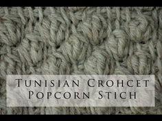 untada de palomita de maiz pTunisian Crochet Popcorn Stitch