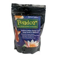 Bio Safe Systems Pond 02 Plus Bacteria 1Lb by BioSafe. $21.49. Made by Bio Safe Systems. Pond O2 Plus is a slow release, granulated oxygen with a dry bacteria component to help keep ponds in balance. Helps sustain water clarity and quality while improving dissolved oxygen levels. Non-harmful to fish, aquatic plants and pets. Use 2tbsp per 250