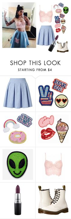 """""""Steal her style :) Melanie Martinez"""" by jrbcfashion ❤ liked on Polyvore featuring Miss Selfridge, JFR, Hipstapatch, MAC Cosmetics and Dr. Martens"""