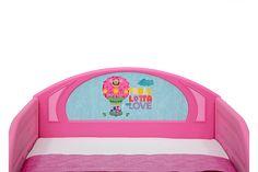 Delta Children Trolls World Tour Plastic Sleep and Play Toddler Bed | Ashley Furniture HomeStore Play Beds, Kid Beds, Kids Toddler Bed, Big Kids, Poppy And Branch, Delta Children, Pink Bedding, Headboard And Footboard, Crib Mattress