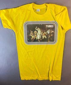 335ff264f Vtg 1970's Tubes Unused PAPER LABEL Punk Rock Ramones Tour concert Orig T- Shirt   eBay