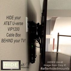 Easy way to Wall Mount your Cable Box and hide the component clutter. HIDEitMounts.com