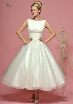 50s style wedding dresses wedding-dress- Sar did you see this one? It's got the boat neck you like.