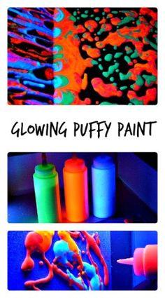 Homemade Glow In the Dark Puffy Paint Recipe  Blog Me Mom