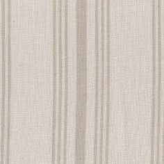 Deckchair Stripe - Dove - Rows of vertical light brown stripes in two thicknesses on a lighter brown linen-polyamide blend fabric background
