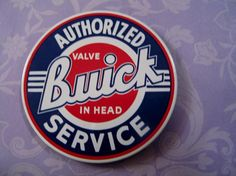 Authorized Buick Valve Service Magnet - Automotive Collectible Magnetic