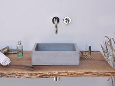 Rechteckiges Aufsatzwaschbecken aus Beton BOX MINI by Gravelli Design Tomáš Vacek
