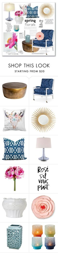 """Floral 8"" by missblue1 ❤ liked on Polyvore featuring interior, interiors, interior design, home, home decor, interior decorating, Barclay Butera, JAlexander, Arco and Juliska"