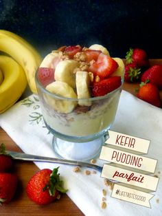 Kefir Pudding Parfait | by Life Tastes Good is a healthy pudding you can feel good about eating and feeding to your family. #KefirCreations #Shop