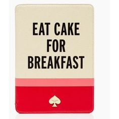 Kate Spade Eat Cake For Breakfast Ipad Air Hardcase ($85) ❤ liked on Polyvore