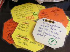 Tarjetas con problemas de mates y su solución, para practicar resolución de problemas de forma autónoma.