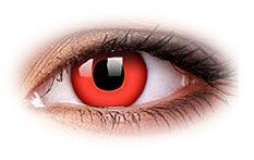 Buy Red Devil Contact Lenses now. Brilliant party effect with bright solid red iris. Special Effect Contact Lenses, Disposable Contact Lenses, Cosplay Contacts, Grand Admiral Thrawn, Colored Contacts, Special Effects, Devil, Scary, Weird