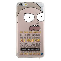 0051 Rick Morty Get Your Shit Together Quote TPU Case by fourand8