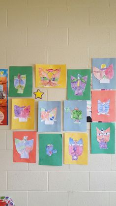 Our make of Paul Klee's Cat and bird with watercolors