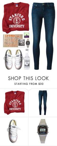 """Stanford"" by lolgenie ❤ liked on Polyvore featuring J Brand, Converse, Polaroid and American Apparel"