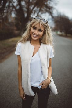 Cara Loren Shop Valerie Vest in White