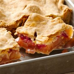 Apple-Raspberry Slab Pie Great To Make For A Get Together