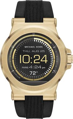 Michael Kors - Access Dylan Smartwatch 46mm Stainless Steel - Gold-tone Stainless Steel
